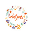 hello autumn autumn leaves background vector image