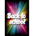 back to school on rainbow vector image