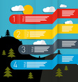 Weather Forecasting Infographic Layout vector image