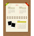 calendar2012 march vector image