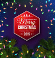 Christmas typography label design Blue background vector image
