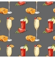 Color pattern contemporary classics cocktails vector image