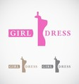 Dressmakers shop and store logo design vector image