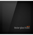 Glass frame background on carbon fiber texture vector image