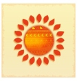 Hot abstract ethnic sun vector image