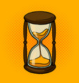 hourglass comic book style vector image