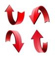 Set of 3d arrow vector image