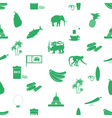 Sri-lanka country symbols seamless green pattern vector image