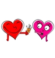 Valentine day Gift cartoon hearts vector image