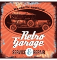 Vintage Car Service Design vector image
