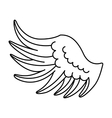 wing angel drawn icon vector image