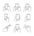 Smartphones gesture icons vector image vector image
