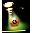 bilbackground with a billiard ball vector image vector image