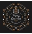 Trendy Christmas Card Happy New Year Minimal vector image