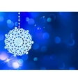 Blue Snowflake Background vector image vector image