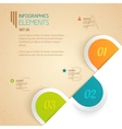 Three numbered tabs with different options and vector image vector image