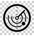 radar icon vector image