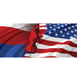 Angry face of Russia to USA vector image