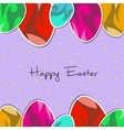 paper eggs Happy easter card violet vector image