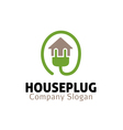 House Plug Design vector image