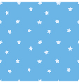 Blue star seamless pattern Stars on sky blue vector image