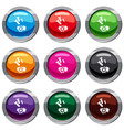 bomb set 9 collection vector image