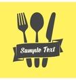 Cutlery emblem vector image