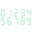 neon Christmas font numerals watch vector image
