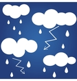 Weather icon Flat icon isolated on a blue vector image