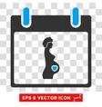 Pregnant Woman Calendar Day Eps Icon vector image