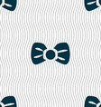 Bow tie icon sign Seamless pattern with geometric vector image