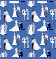 wedding ceremony groom and bride couple people vector image