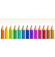 Thirteen colorful pencils vector image vector image