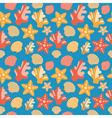 Shells Coral And Starfish Seamless Texture vector image