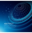 background with glowing space orbit vector image vector image