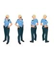 Police woman in uniform Police woman icon Police vector image vector image