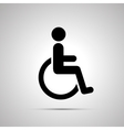 Disabled handicap simple black icon vector image