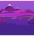 cartoon desert evening landscape vector image