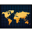 Geographical map vector image