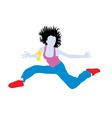 Happy Hip Hop Jumping vector image