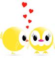 kiss chicken vector image