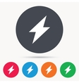 Lightning icon Electricity energy power sign vector image