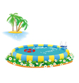 outdoor pool vector image