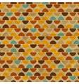 Seamless retro geometric pattern vector image