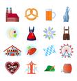 Set of Oktoberfest icons vector image