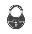 Padlock Black icon logo element flat isolated on vector image vector image