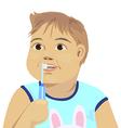 baby brush teeth vector image vector image