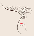 Sketch of a beautiful girl for Happy Womens Day vector image