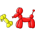 balloon dog vector image