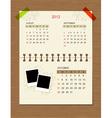 calendar2012 october vector image